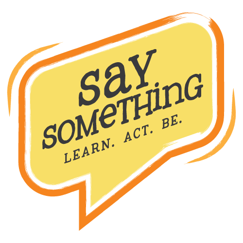 Redesigned Say Something logo